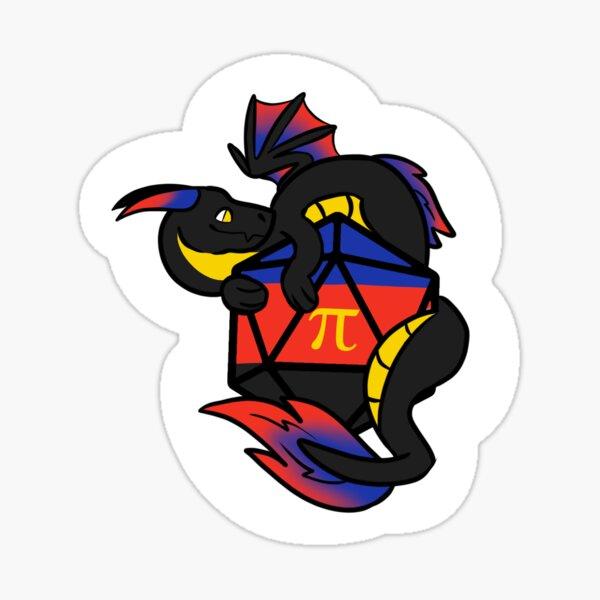 Polyamorous d20 dragon Sticker