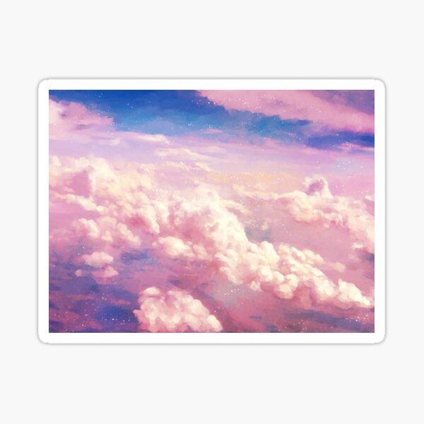 Pink Clouds Sticker