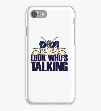 Look Who's Talking iPhone Case/Skin
