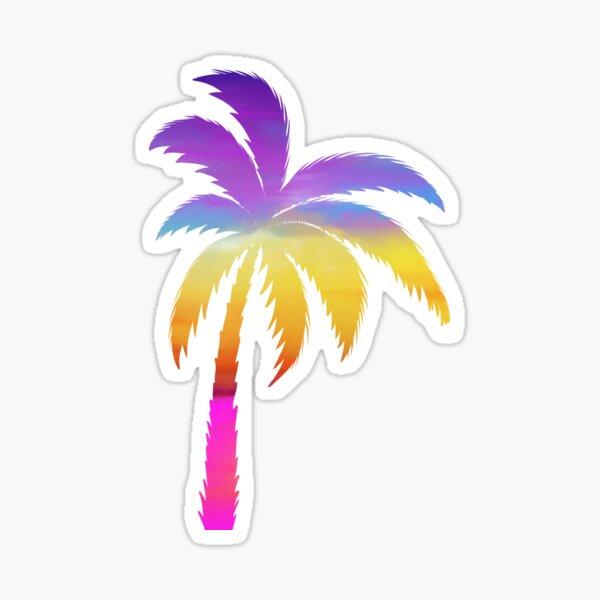 Rainbow Palm Glossy Sticker