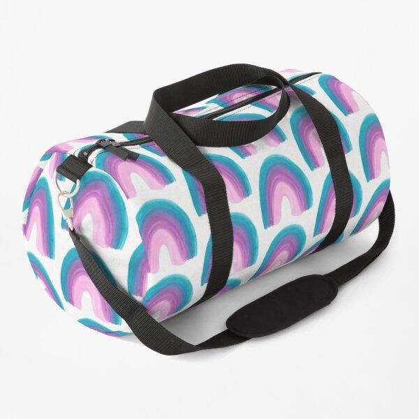 Single rainbow ( blue purple pink)  Duffle Bag