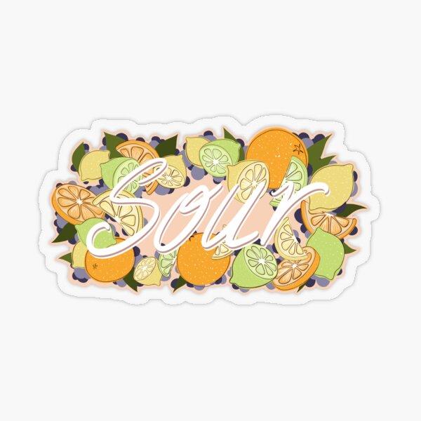 Sour Citrus Fruit Transparent Sticker