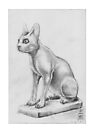 Alabaster Vase in the Shape of a Cat by Aakheperure