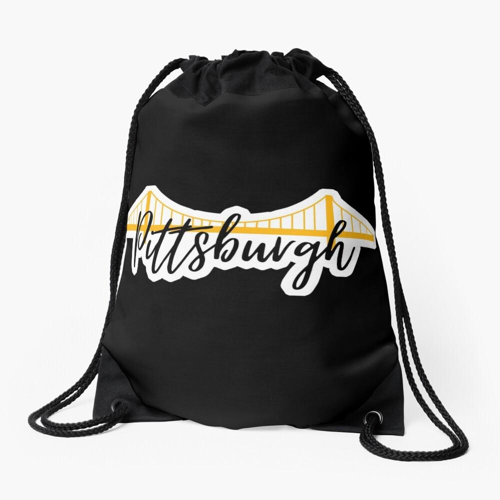Pittsburgh Bridge City Pride Black Drawstring Bag