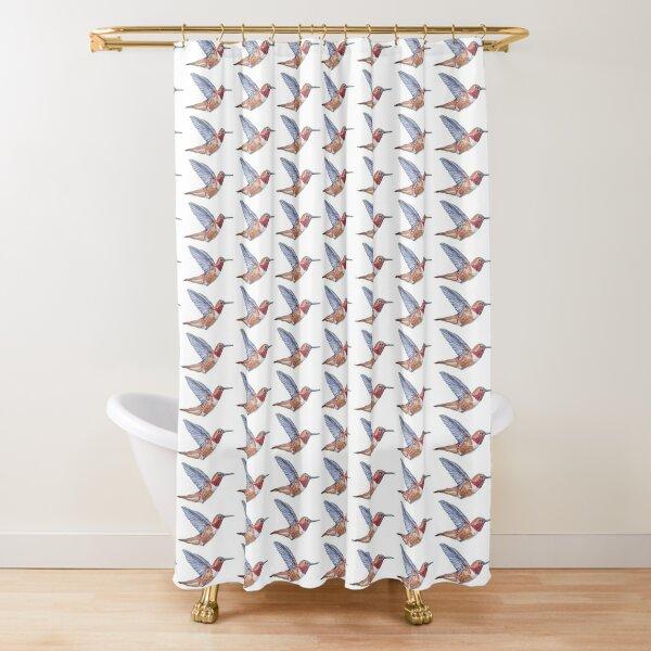 Rufous Hummingbird painting - no background Shower Curtain