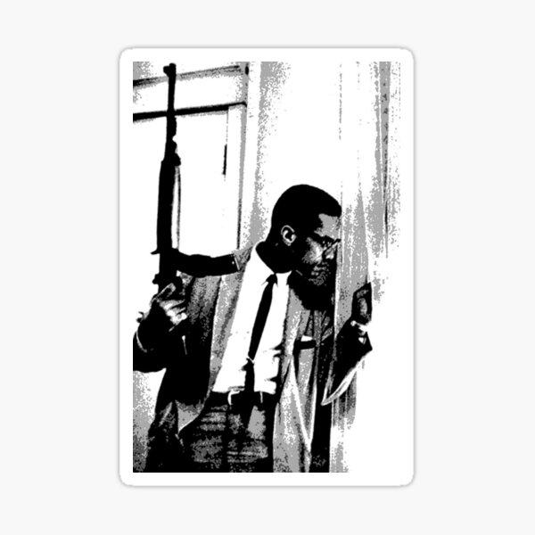 The Malcolm X black heritage artwork Sticker