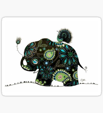 The Elephant and the Peacock Sticker
