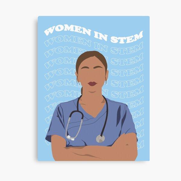 Women in STEM - Health Worker II Canvas Print
