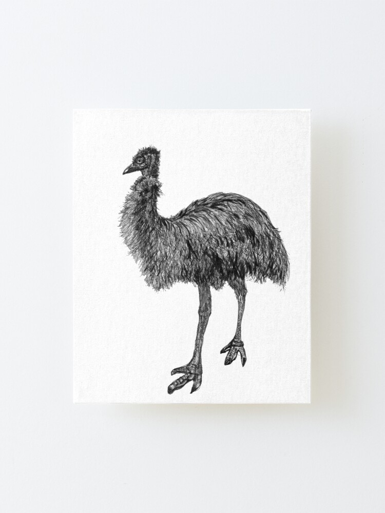 Alternate view of Fluffy the Emu Mounted Print