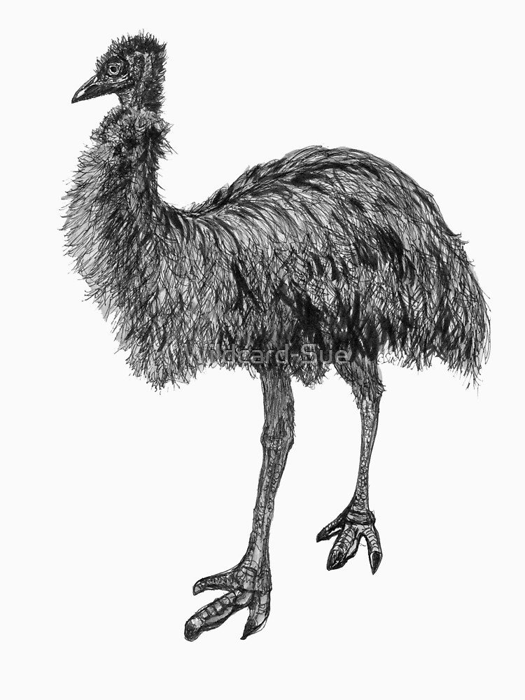 Fluffy the Emu by Wildcard-Sue