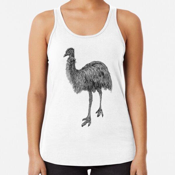 Fluffy the Emu Racerback Tank Top