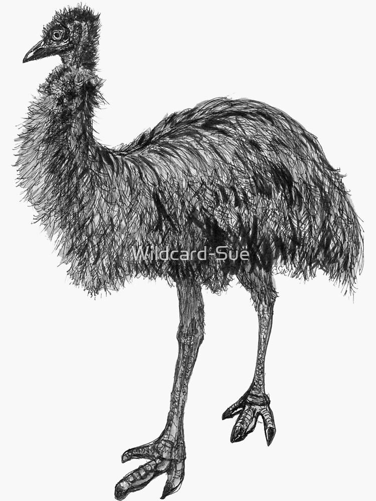 Fluffy the Emu by Wildcard-Sue