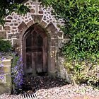 Arched Door At Whitchurch Canonicorum, Devon UK by lynn carter