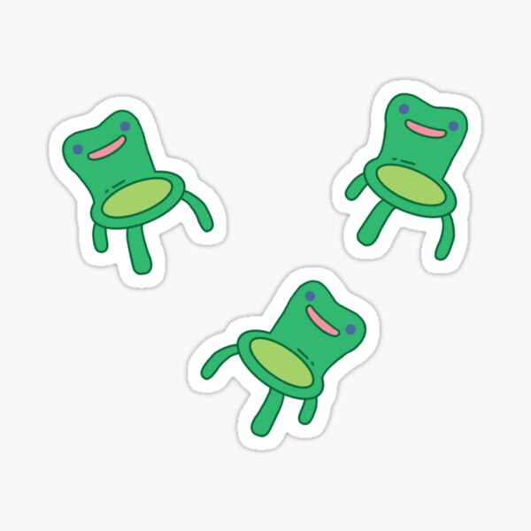 froggy chair pack Sticker