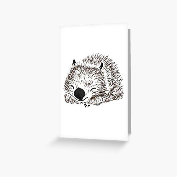 Cute Wombat Greeting Card