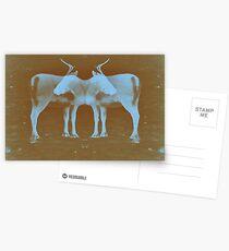 Reindeer Cross Postcards