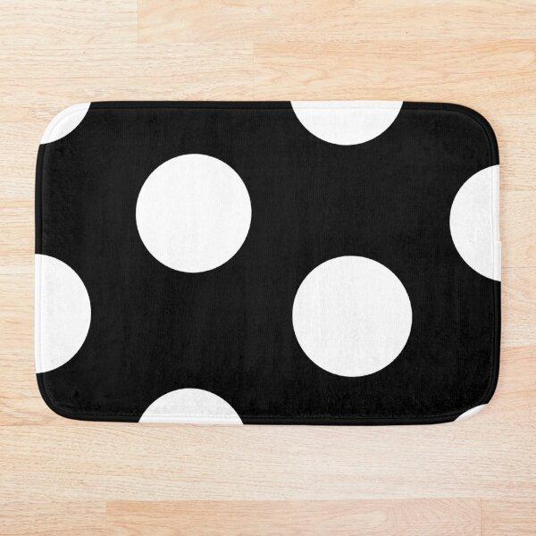 Black and White Polka Dot Design Bath Mat