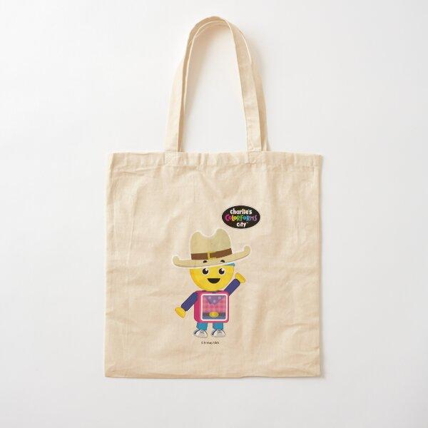Charlie's Colorforms City - Cowboy Cotton Tote Bag