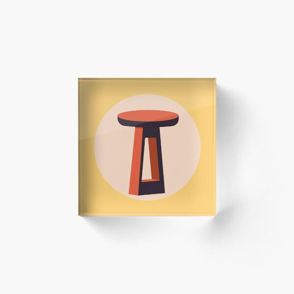 A Stool Acrylic Block