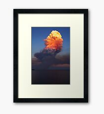 Fire Cloud - Hastings Westernport Bay Framed Print