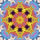 The Sunshine Kaleidoscope, abstract fractal wallart by walstraasart