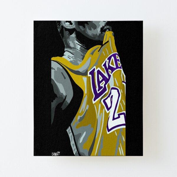 Kobe Bryant LA Lakers Impression montée sur toile