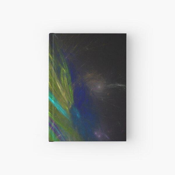 Color Swirl, Stripes, Blur Fractal Artwork Hardcover Journal