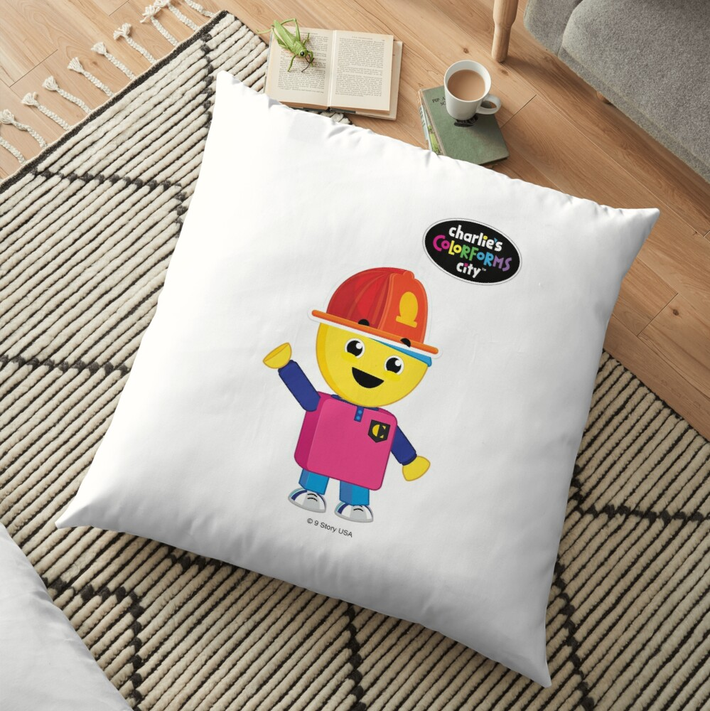 Charlie's Colorforms City - Firefighter Floor Pillow