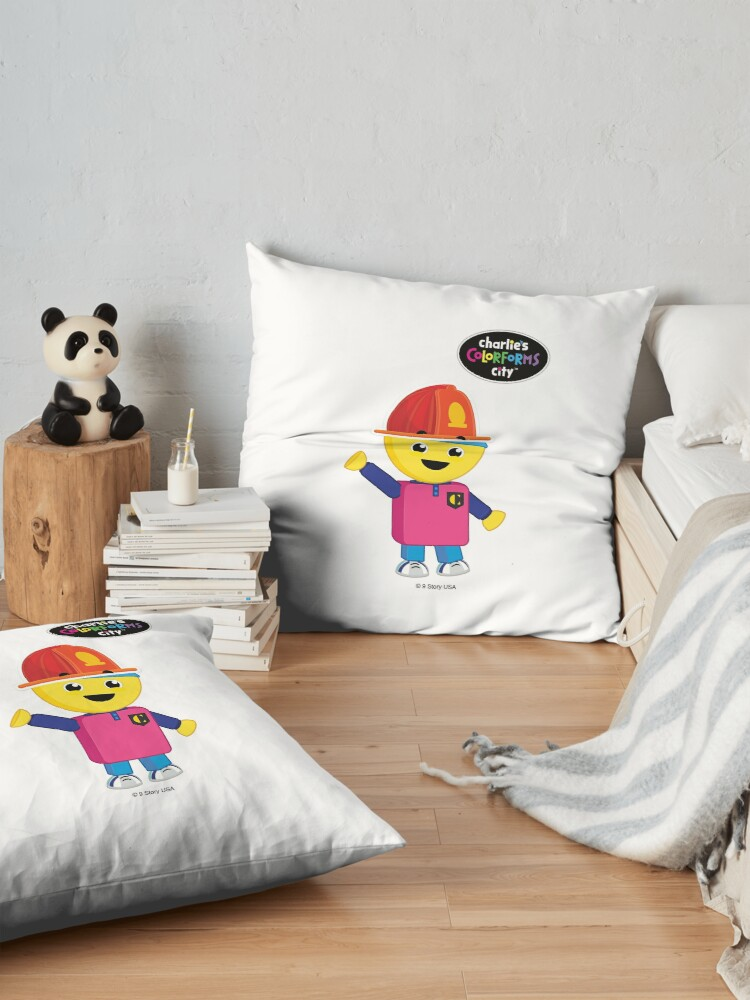 Alternate view of Charlie's Colorforms City - Firefighter Floor Pillow