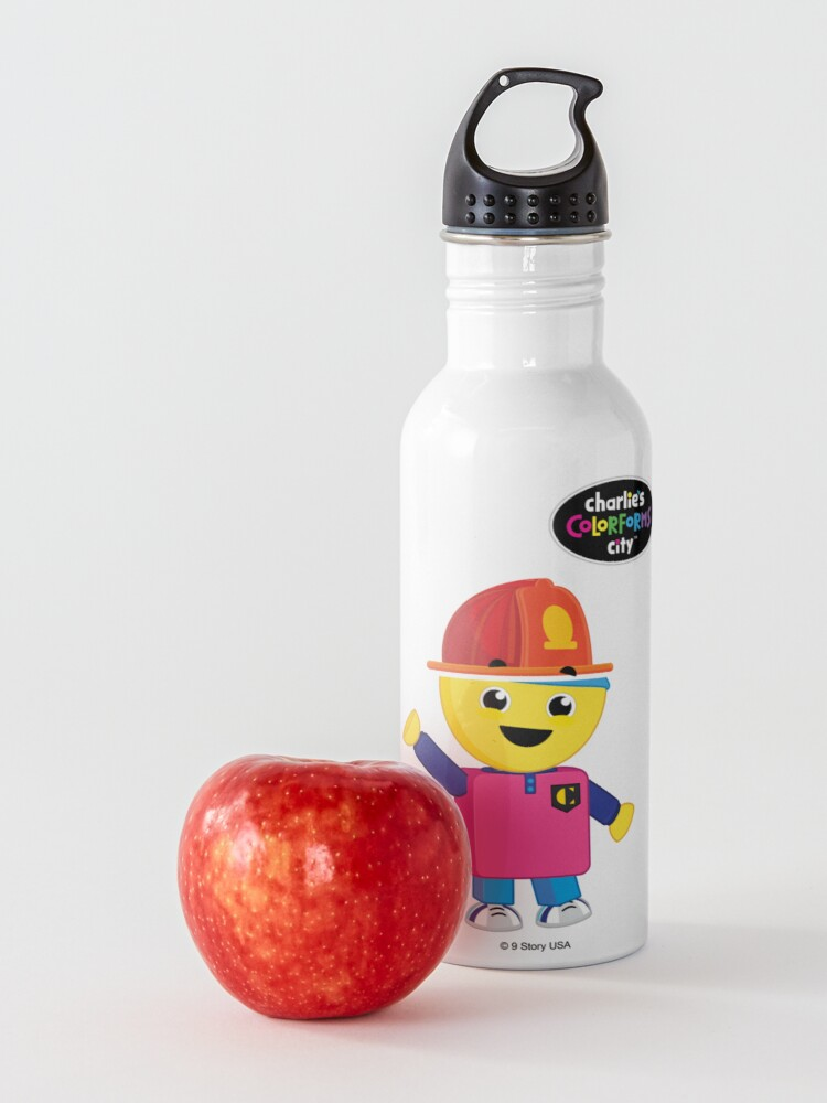 Alternate view of Charlie's Colorforms City - Firefighter Water Bottle