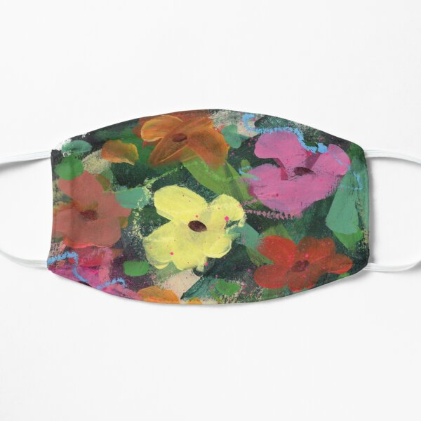Abstract Flowers No.30  Flat Mask