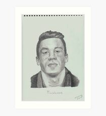 Macklemore Drawing Art Print