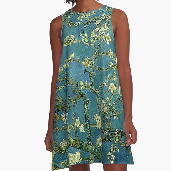 Van Gogh Almond Blossoms A-Line Dress