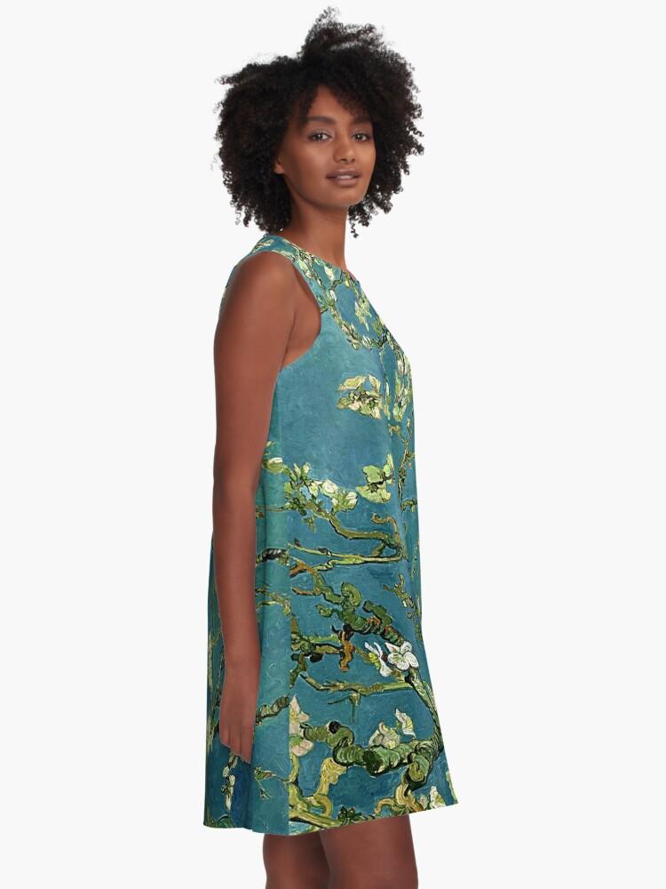 Alternate view of Van Gogh Almond Blossoms A-Line Dress