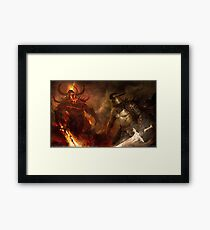 Prepare for a fight Framed Print