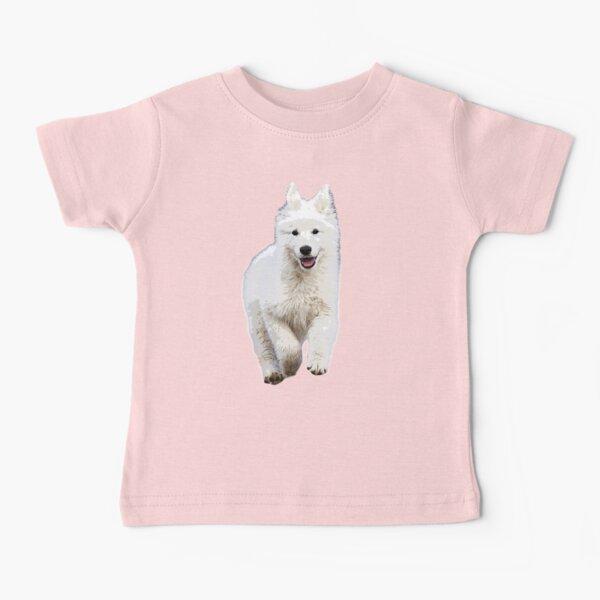 White Swiss Shepherd Puppy Dog  Baby T-Shirt