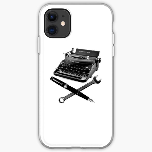 Typewriter, Fountain Pen and Wrench iPhone Soft Case