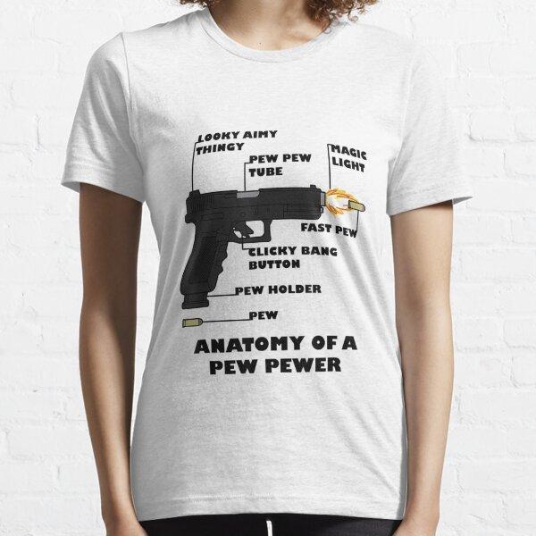 Anatomy Of A Pew Pewer Ammo Gun Amendment Meme Lovers Essential T-Shirt