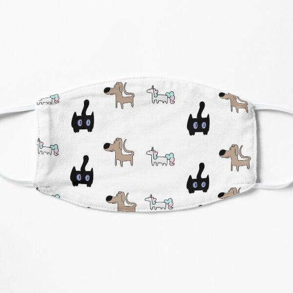 dogs, unicorns, cats Flat Mask