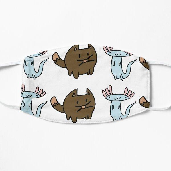 cats and axolotls  Flat Mask