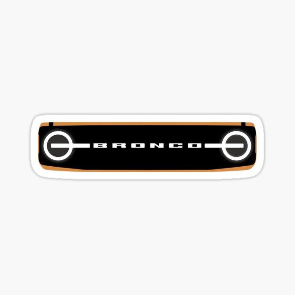 Ford Bronco 2021 Grille Silhouette Sticker