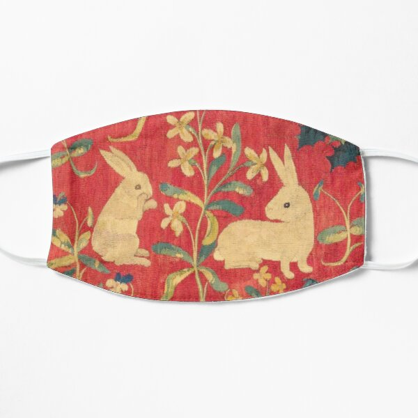 Two Rabbits - The Unicorn Tapestries Flat Mask
