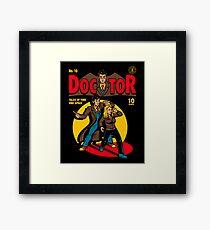 Doctor Comic Framed Print