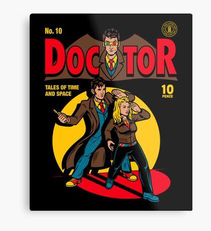 Doctor Comic Metal Print