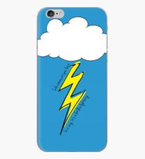 Life comes at you fast. In a way, it's a lot like lighting. iPhone Case