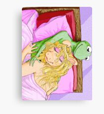 Kermit&Piggy Canvas Print