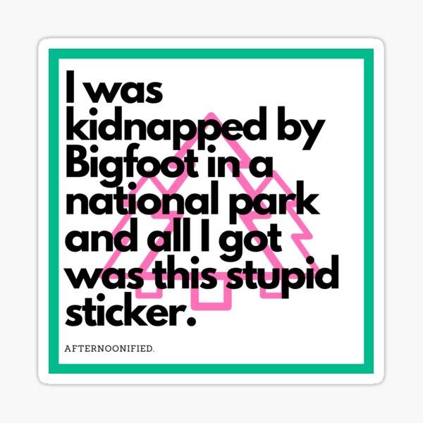Bigfoot Sticker Sticker