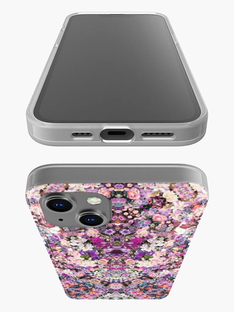Alternate view of Floral Kaleidoscope iPhone Case