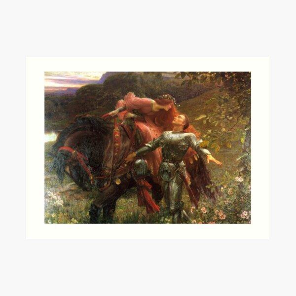 La Belle Dame sans Mercy - Sir Frank Dicksee Art Print