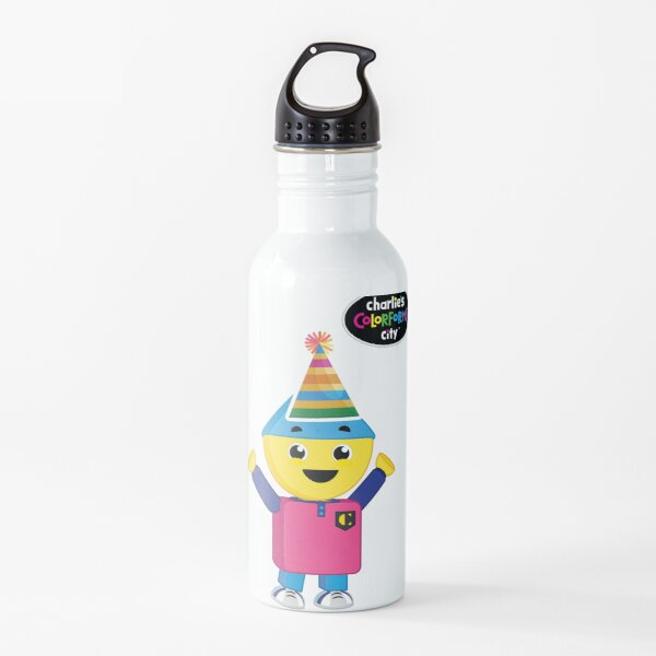 Charlie's Colorforms City - Party Water Bottle